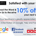 Love us? Spread the word and receive a generous discount on your next service!