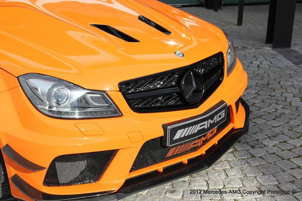 orange and black amg