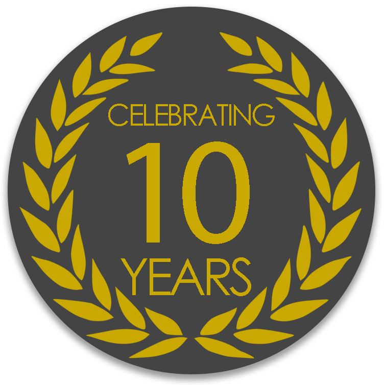 10 year badge